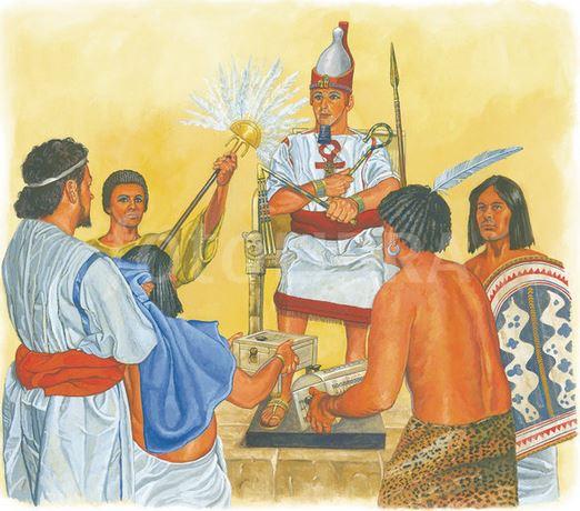 Gambar ilustrasi menyerahkan upeti kepada raja