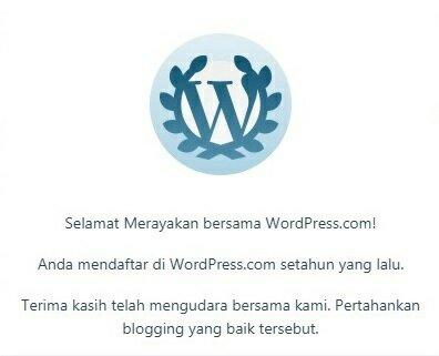 Mengingat 1 tahun ngeblog di WordPress